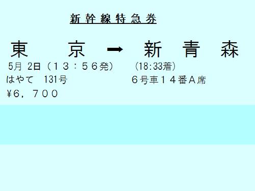 新幹線特急券