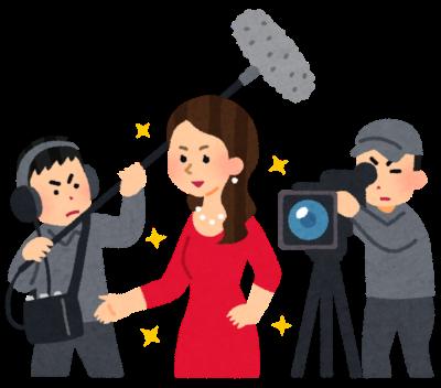 映画を撮影する女優