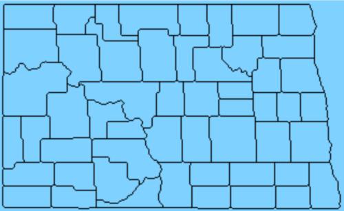 ノースダコタ州の地図