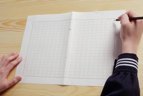 中学生と原稿用紙