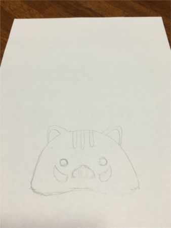 いのしし鏡餅風2