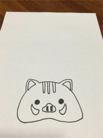 いのしし鏡餅風3