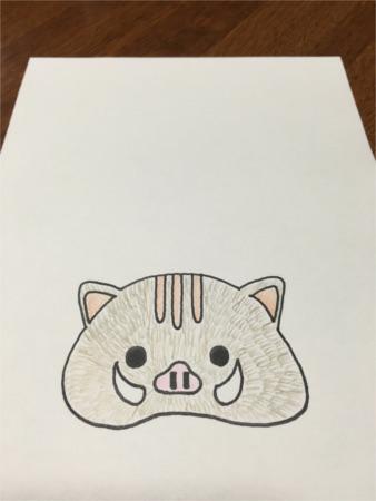 いのしし鏡餅風4