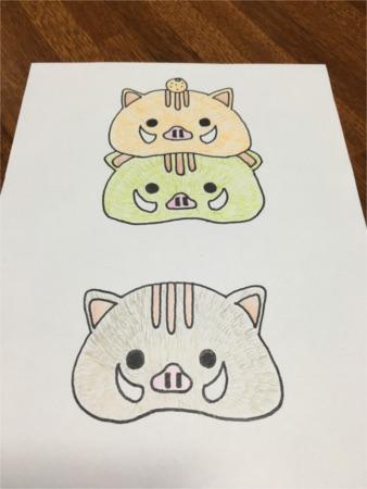いのしし鏡餅風5