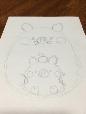 ちび猪の親子2