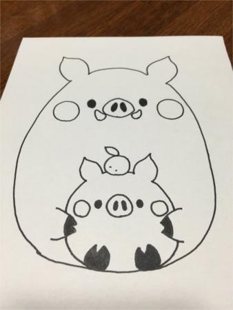 ちび猪の親子3