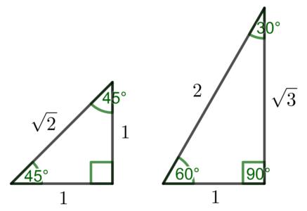 特別な三角形の辺の比