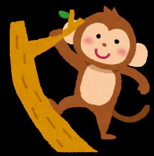 木に登る猿(大)